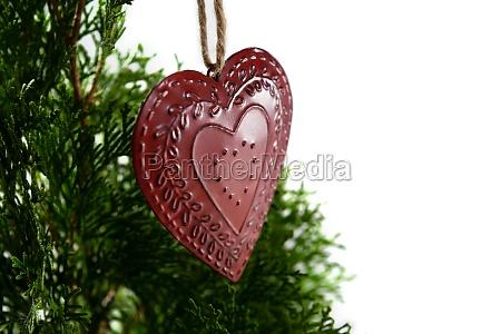 ksztalt serca swiateczna dekoracja wiszaca na