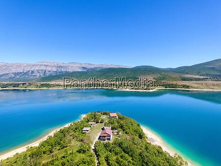 aerial view of peruca lake second