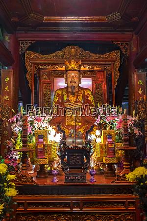 altar in temple hanoi vietnam