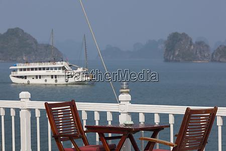 vietnam halong bay tourist boat deck
