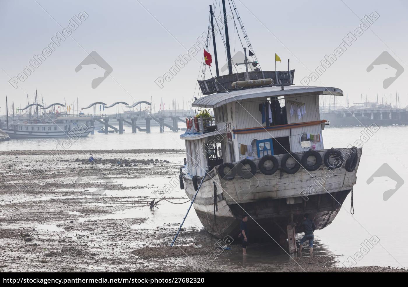 wietnam, halong, city, bai, chay, port, halong, bay, łodzi - 27682320