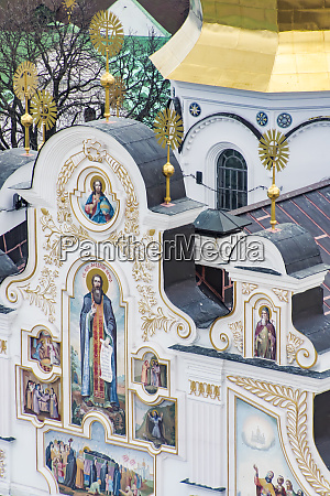 church detail at pechersk lavra monastery