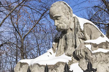 statue of taras shevchenko at st
