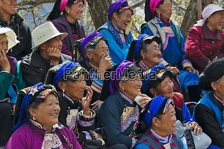 jiarong tibetan woman in traditional clothing
