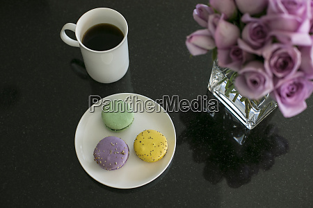 french macarons and coffee new york