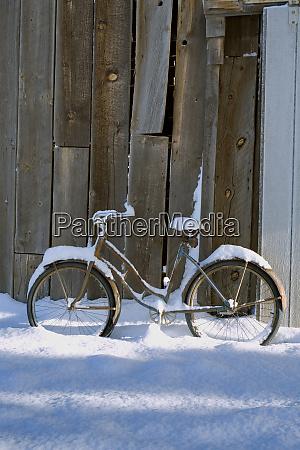 usa oregon bend an old bicycle