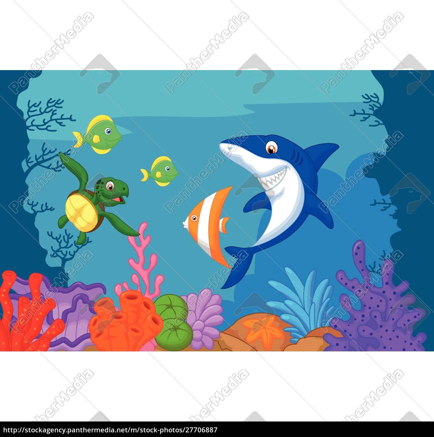 sea, life, cartoon - 27706887