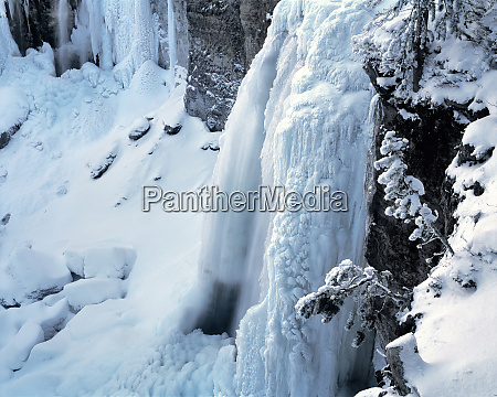 usa oregon paulina falls an ice