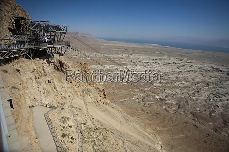 view of barren wilderness beneath jewish