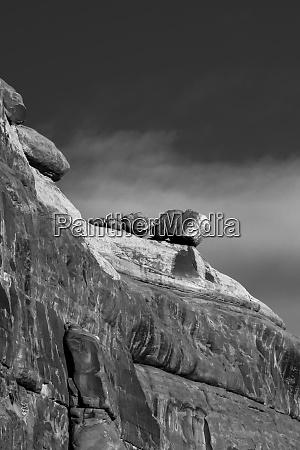 usa utah arches national park black