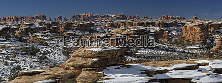 usa utah snow covering formations in