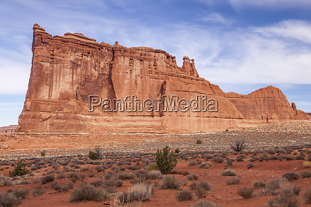 stany, zjednoczone, utah, moab, arches, national, park., wieża, babel - 27712476