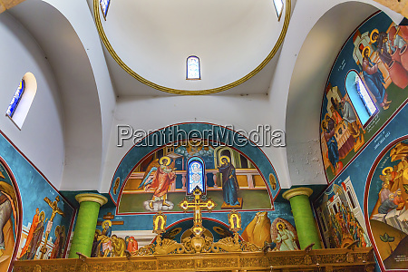 frescoes dome actual baptism site of