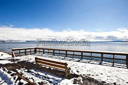 usa wyoming yellowstone national park lake