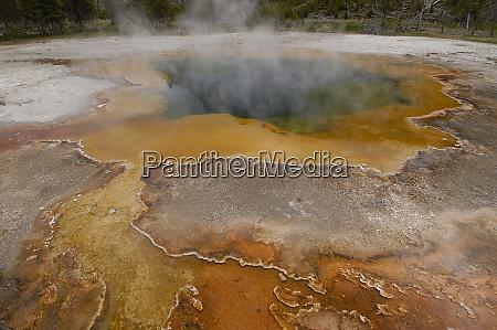 sulphur caldron yellowstone national park wyoming