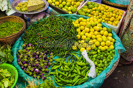 myanmar mandalay chilies limes and tiny