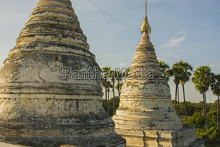 myanmar bagan minochantha stupa group and