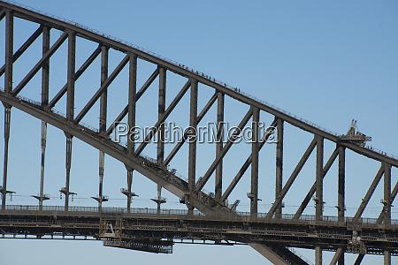 australia sydney harbour bridge detail of