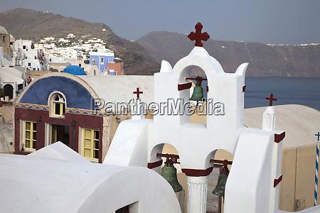 grecja santorini dzwonnica w miescie oia