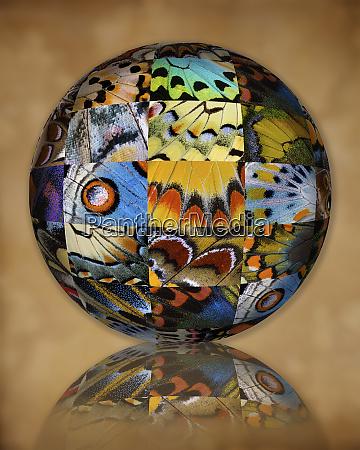 photoshop designed globe with grouping of