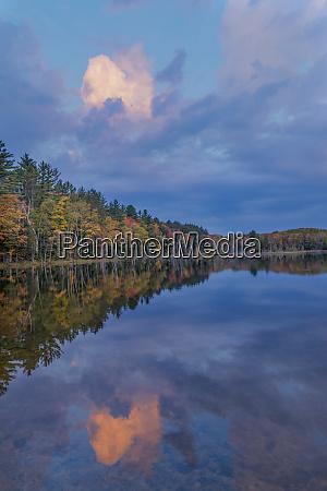 sunrise reflection on council lake upper