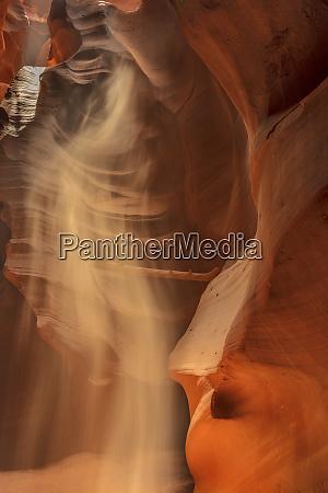 sunbeam in upper antelope canyon near