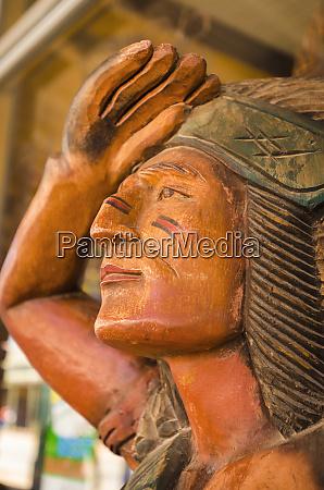 wooden indian tombstone arizona usa