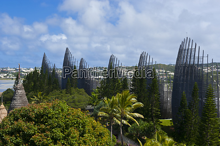 tjibaou cultural center in noumea capital