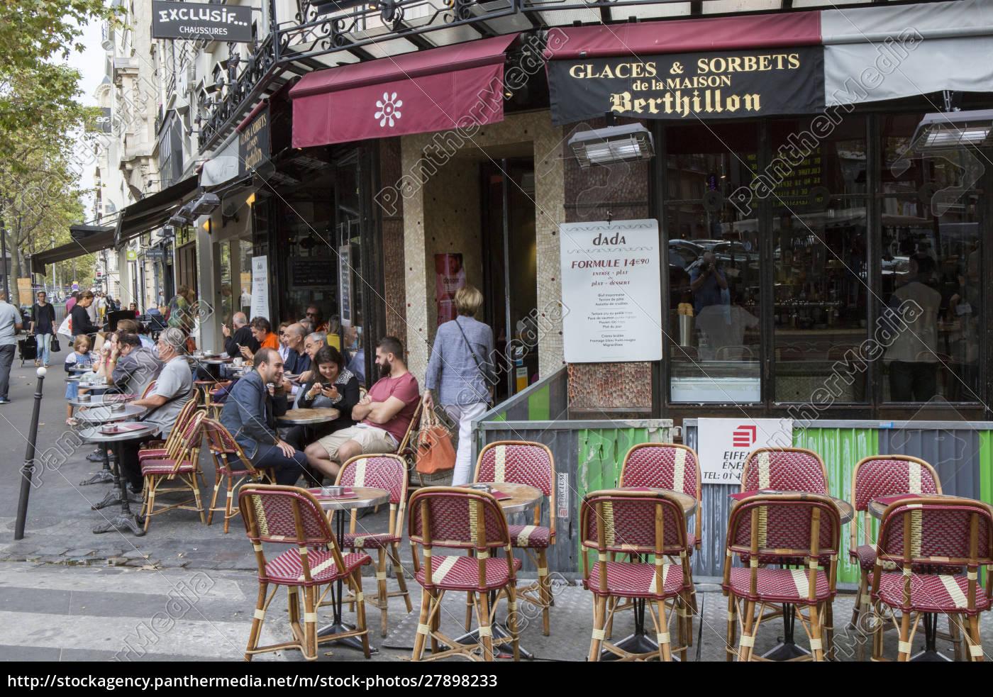 outside, cafe., paris. - 27898233