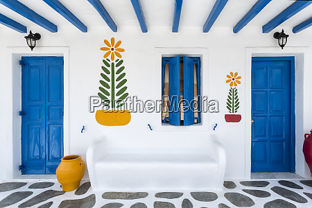 greece mykonos colorful house exterior credit