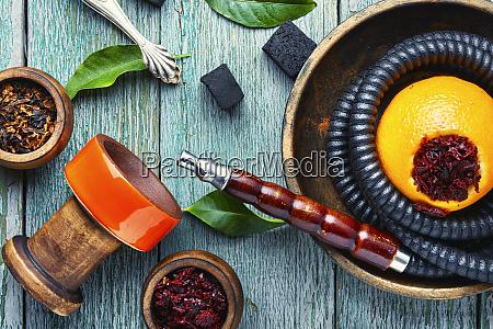 orientalna fajka o pomaranczowym smaku