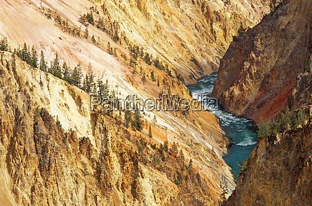 rzeka i kanion yellowstone z grandview