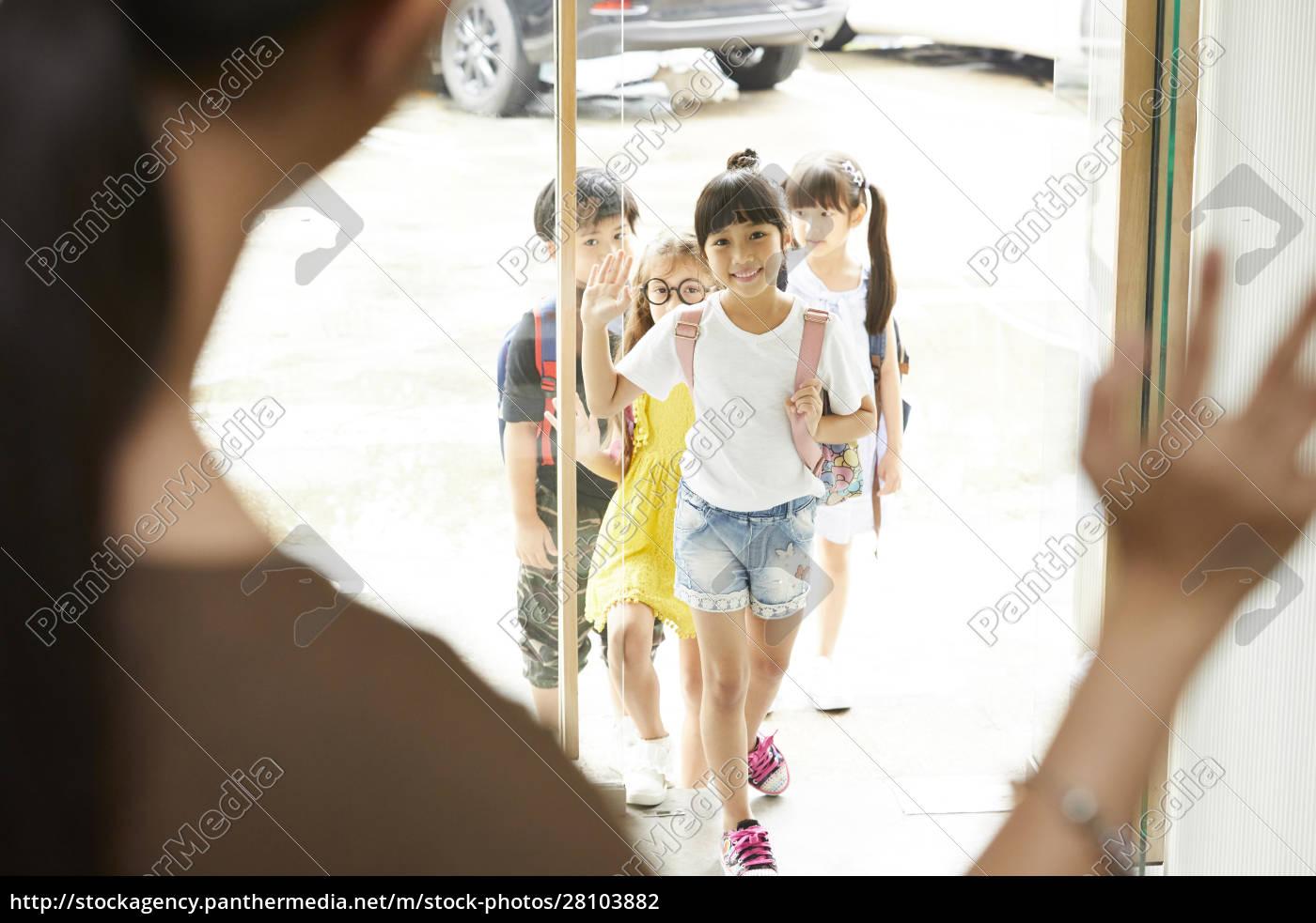 Życie, szkolne, dla, dzieci, w, wieku - 28103882