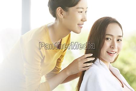 kobieta salon kosmetyczny
