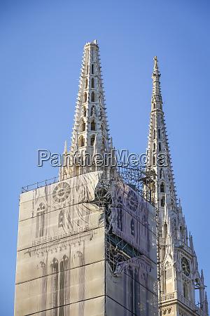 zagrzeb, dotknięty, trzęsieniem, ziemi, uszkodził, katedrę - 28228805