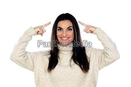 atrakcyjna brunetka kobieta