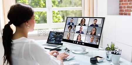 wideokonferencji online zdalne spotkanie webinarium