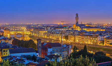view on florence at night