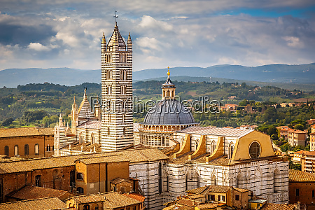 view on siena cathedral