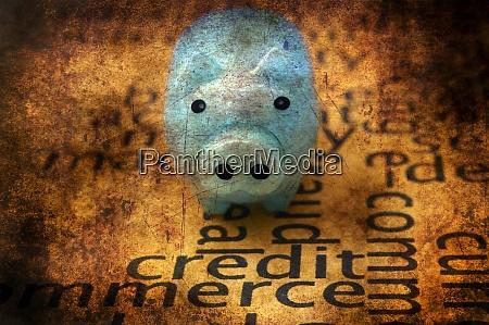 skarbonka i koncepcja grunge kredytowej