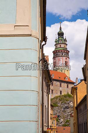 zamek i zabytkowa architektura w krumlovie