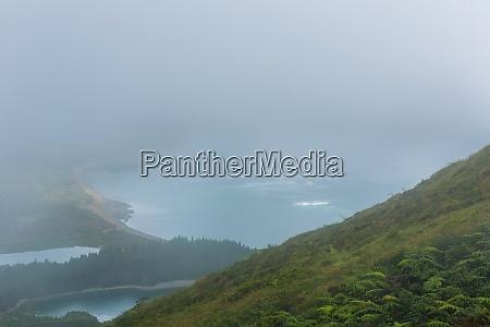 azory piekny krajobraz miguel malowniczy gora
