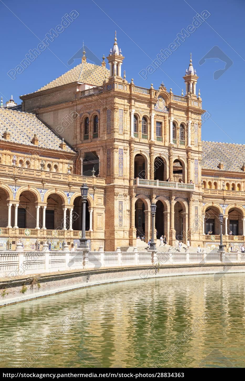 kanał, biegnący, przez, plaza, de, espana, maria - 28834363