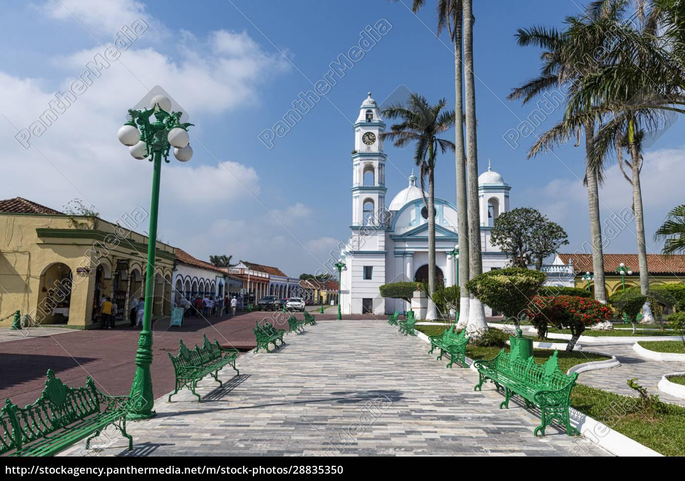 tlacotalpan, wpisane, na, listę, Światowego, dziedzictwa, unesco, veracruz, meksyk, ameryka - 28835350