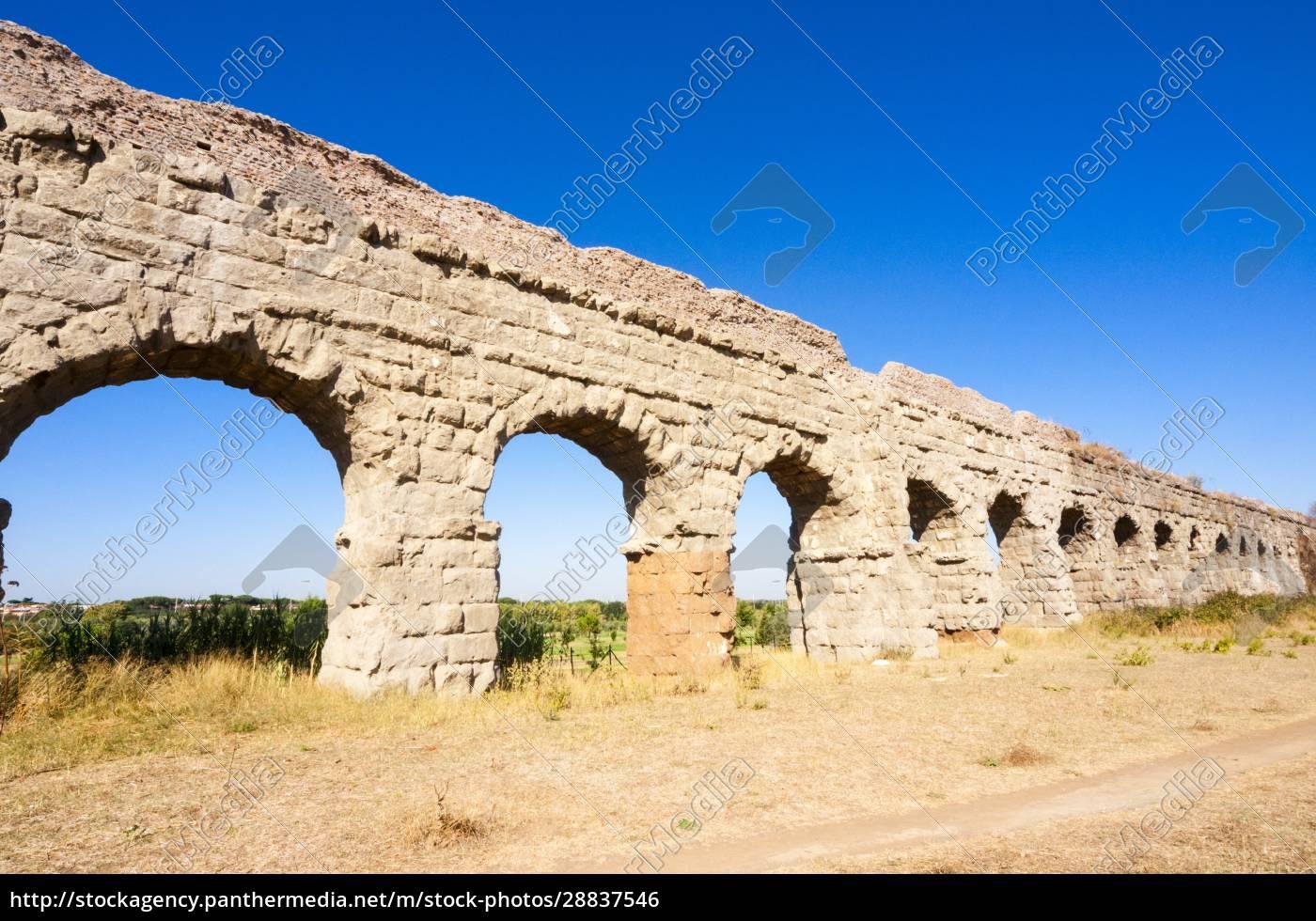 parco, degli, acquedotti, appian, way, park, pozostałości, rzymskiego - 28837546