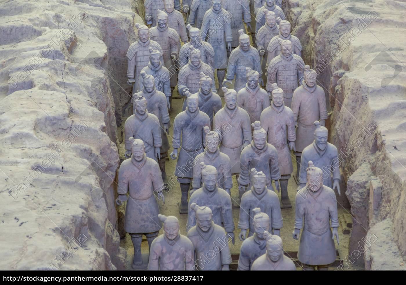 widok, na, terakotowych, wojowników, w, tomb - 28837417