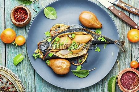 pieczona makrela rybna