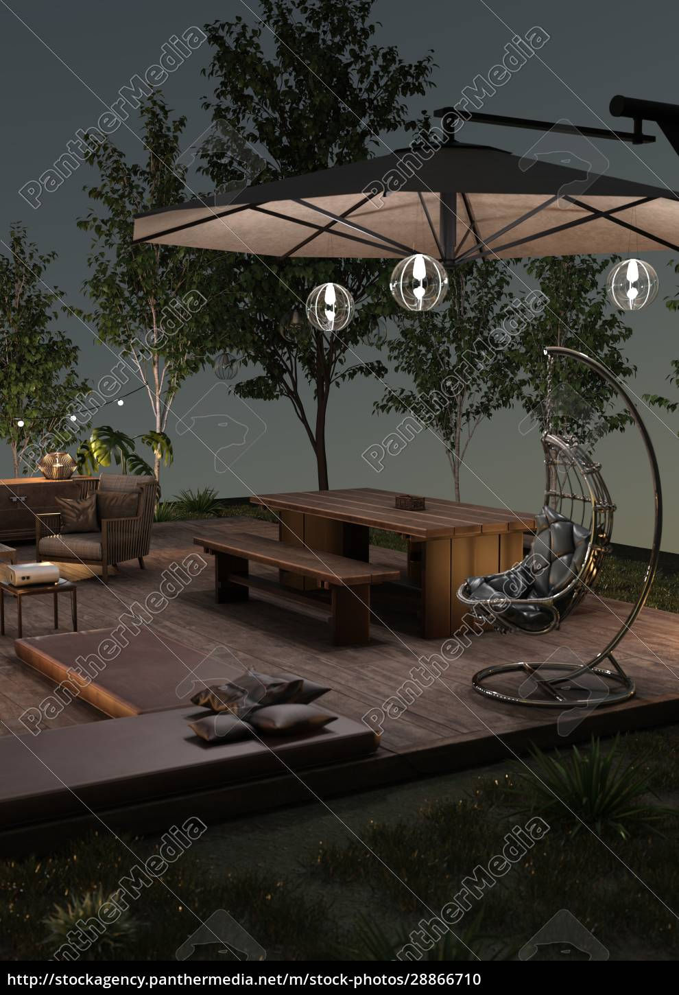 3d, rendering, home, theater, outside - 28866710