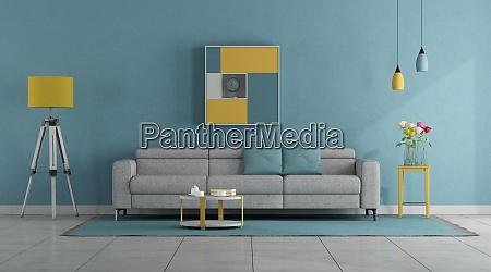 pokoj dzienny w nowoczesnych pastelowych kolorach