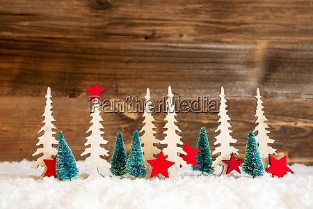 choinka Snieg czerwona gwiazda kopiuj przestrzen